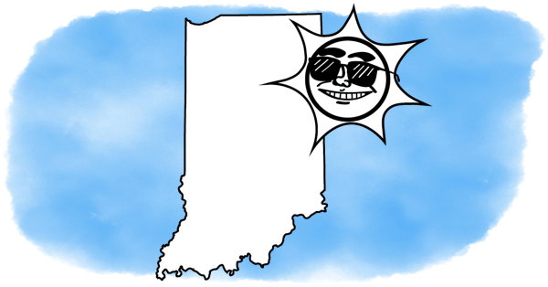 solar power smiles on Indiana