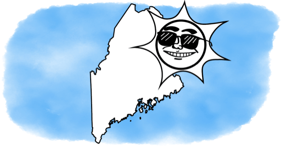 solar power shining on Maine