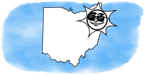solar power shining on Ohio