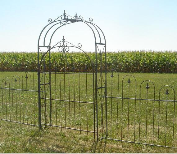 Solid Steel Arbor Gate