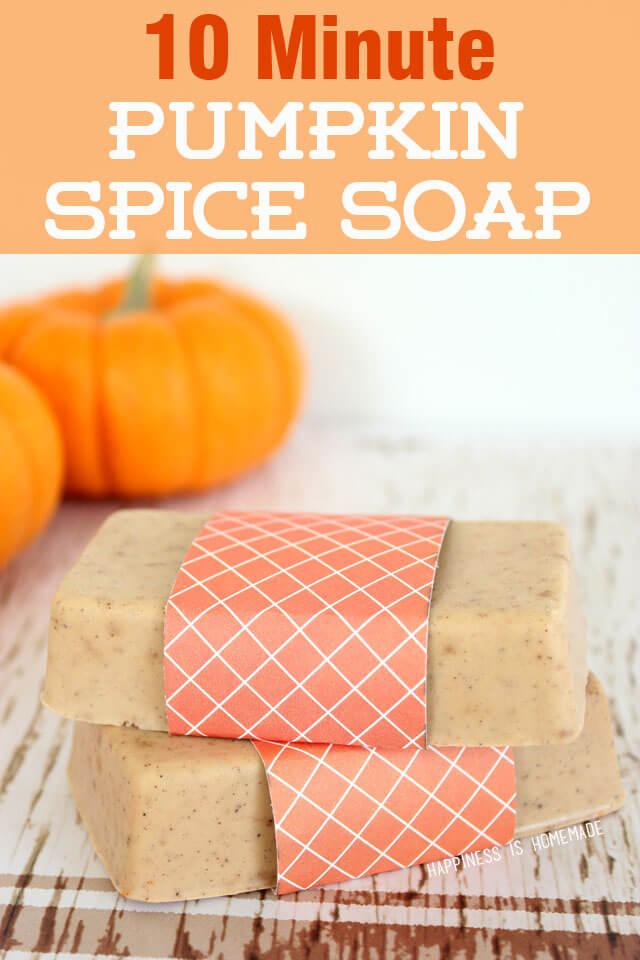 10-Minute Pumpkin Spice Soap
