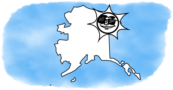 solar power shines on Alaska