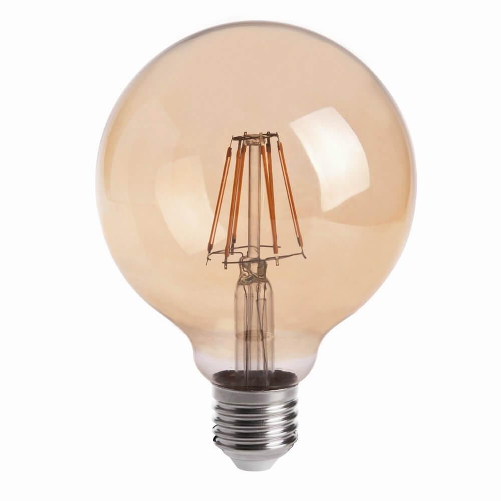 Amber Glow Globe Light