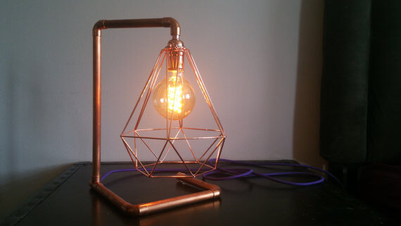 Copper Frame Edison Lamp