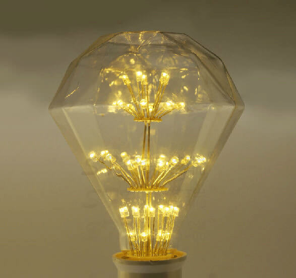 Diamond Fireworks Light Bulb