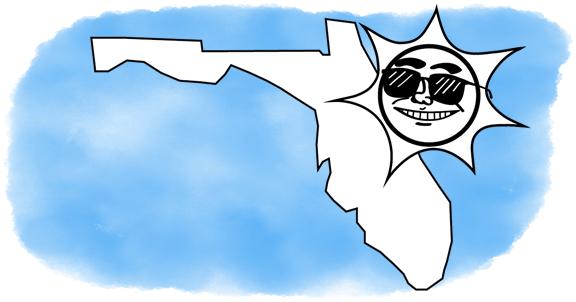 solar power shines on Florida
