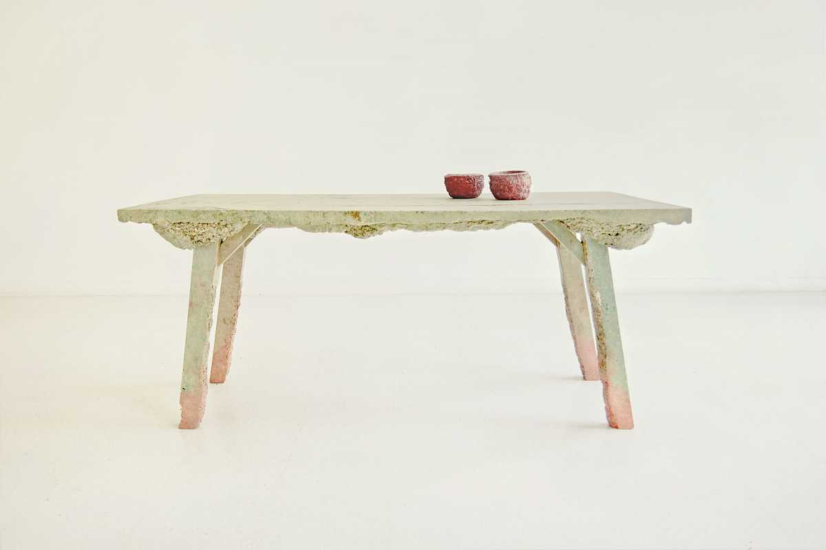 Foaming Wood Table