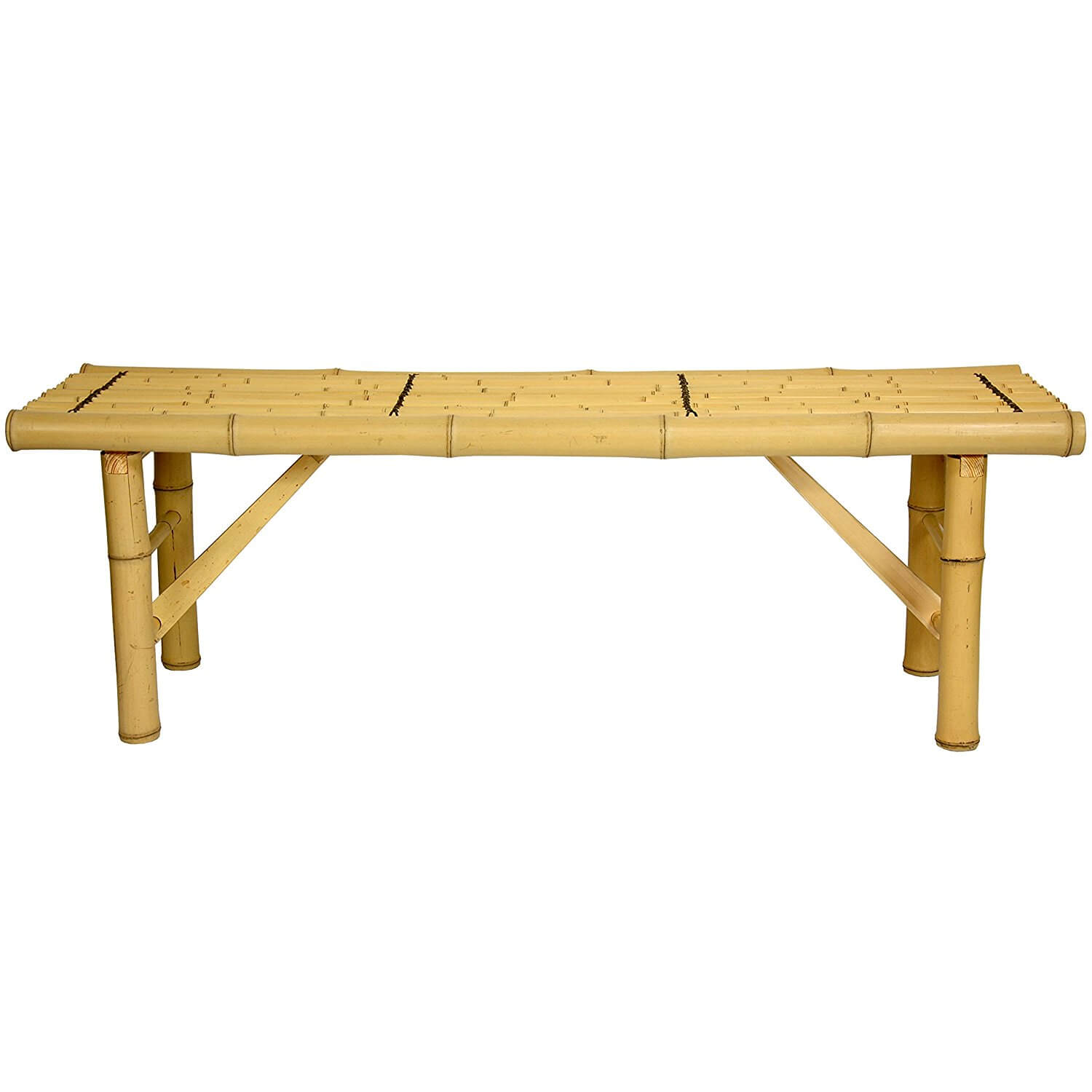 Foldable Pole Bamboo Table-Bench