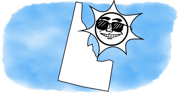 solar power shines on Idaho