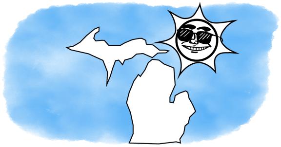 solar power shines on Michigan