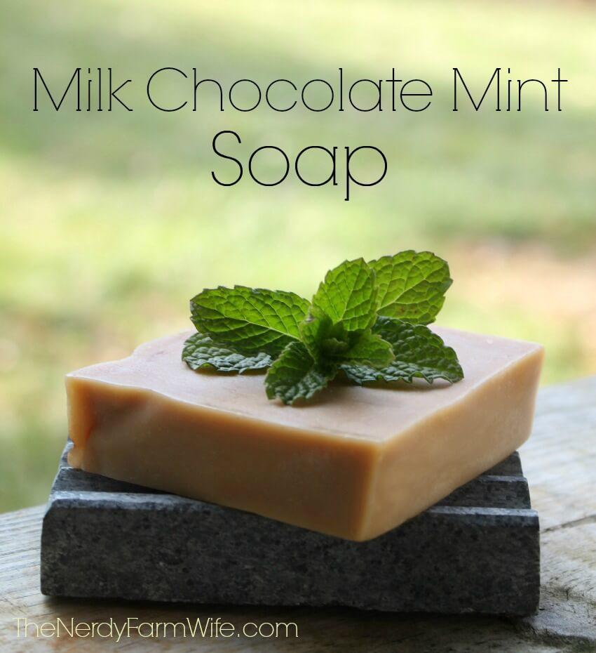 Milk Chocolate Mint Soap
