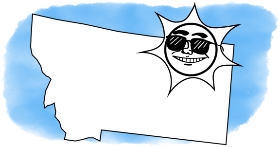 solar power shines on Montana