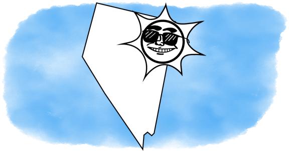 solar power shines on Nevada