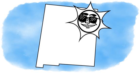 solar power shines on New Mexico