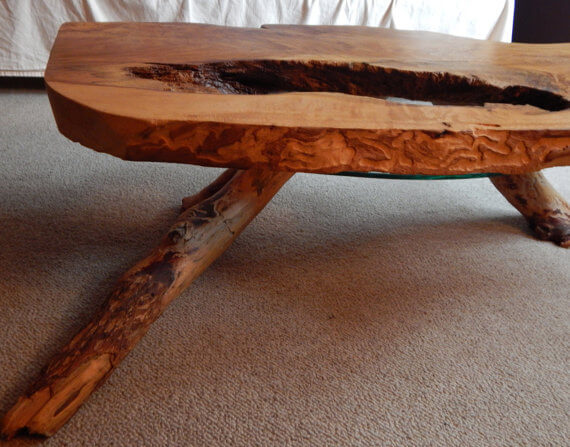 Quilted Oak Coffee Table