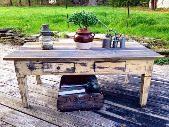 Refinished Farmhouse Table