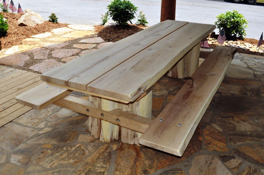 Rustic Log Tables
