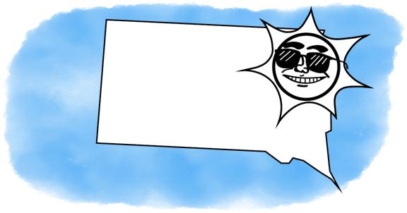 solar power shines on South Dakota