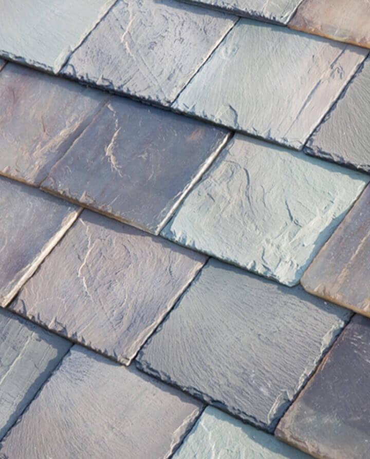tesla solar roof tiles in slate