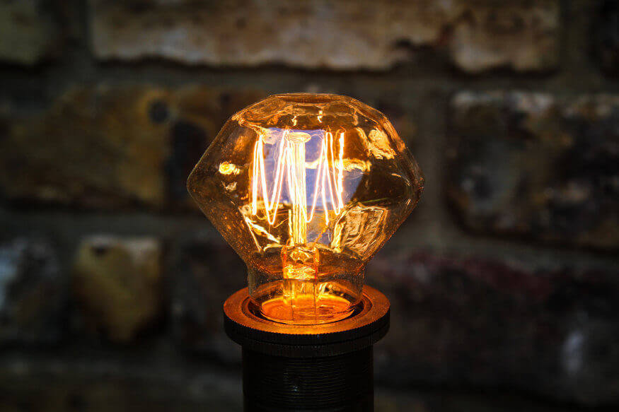 Vintage Diamond Light Bulb