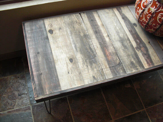 Vintage Steel and Wood Table