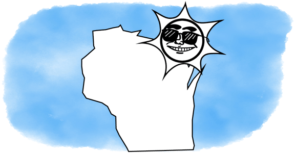 solar power shines on Wisconsin