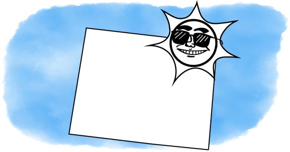 a sun smiles on Wyoming
