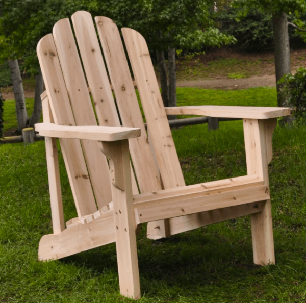 unfinished Adirondack chair