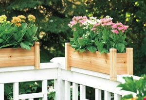Cedar Railing Planter Box Plan