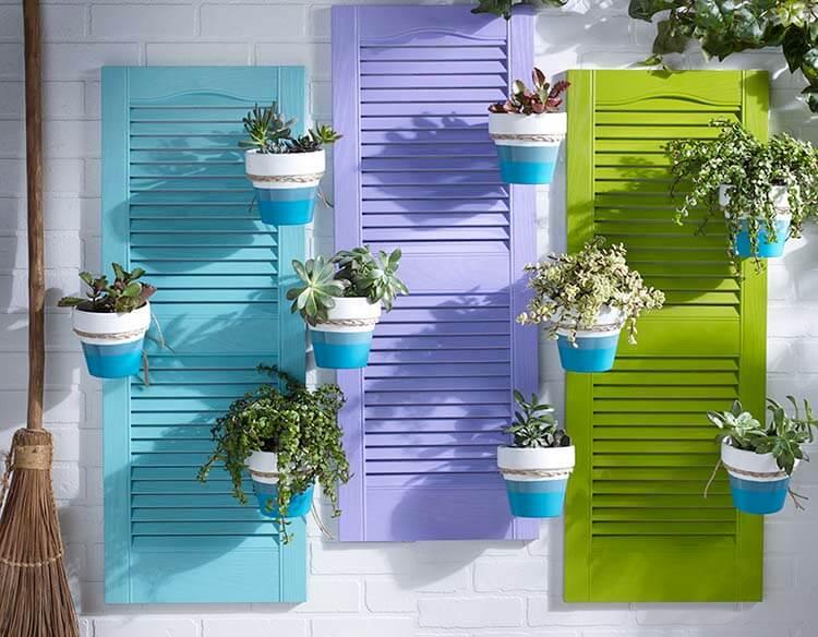 DIY Shutter Planter Project