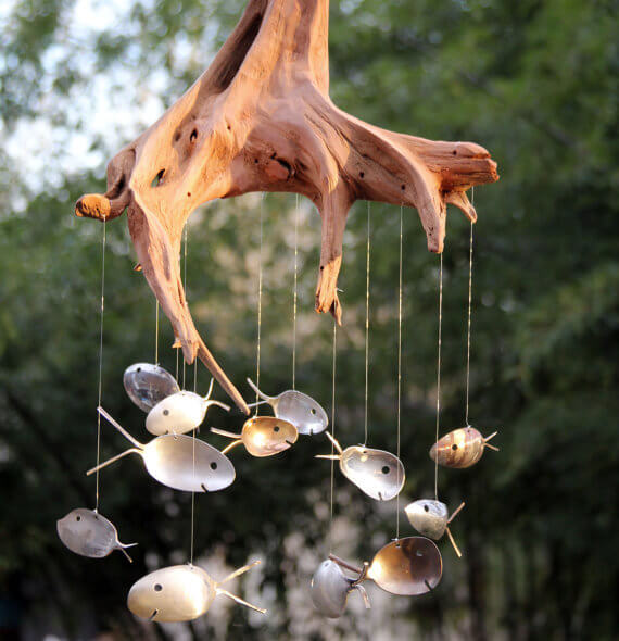 Driftwood and Spoons Wind Chimes