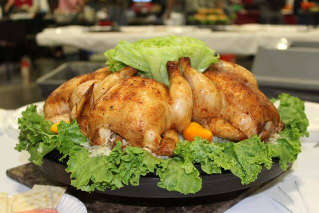 Cornish Game Hens cooked in a Dutch oven