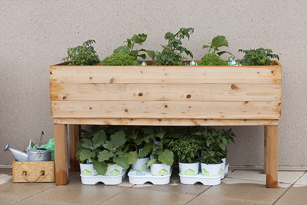 Planter box plans insteading for Wooden garden box designs