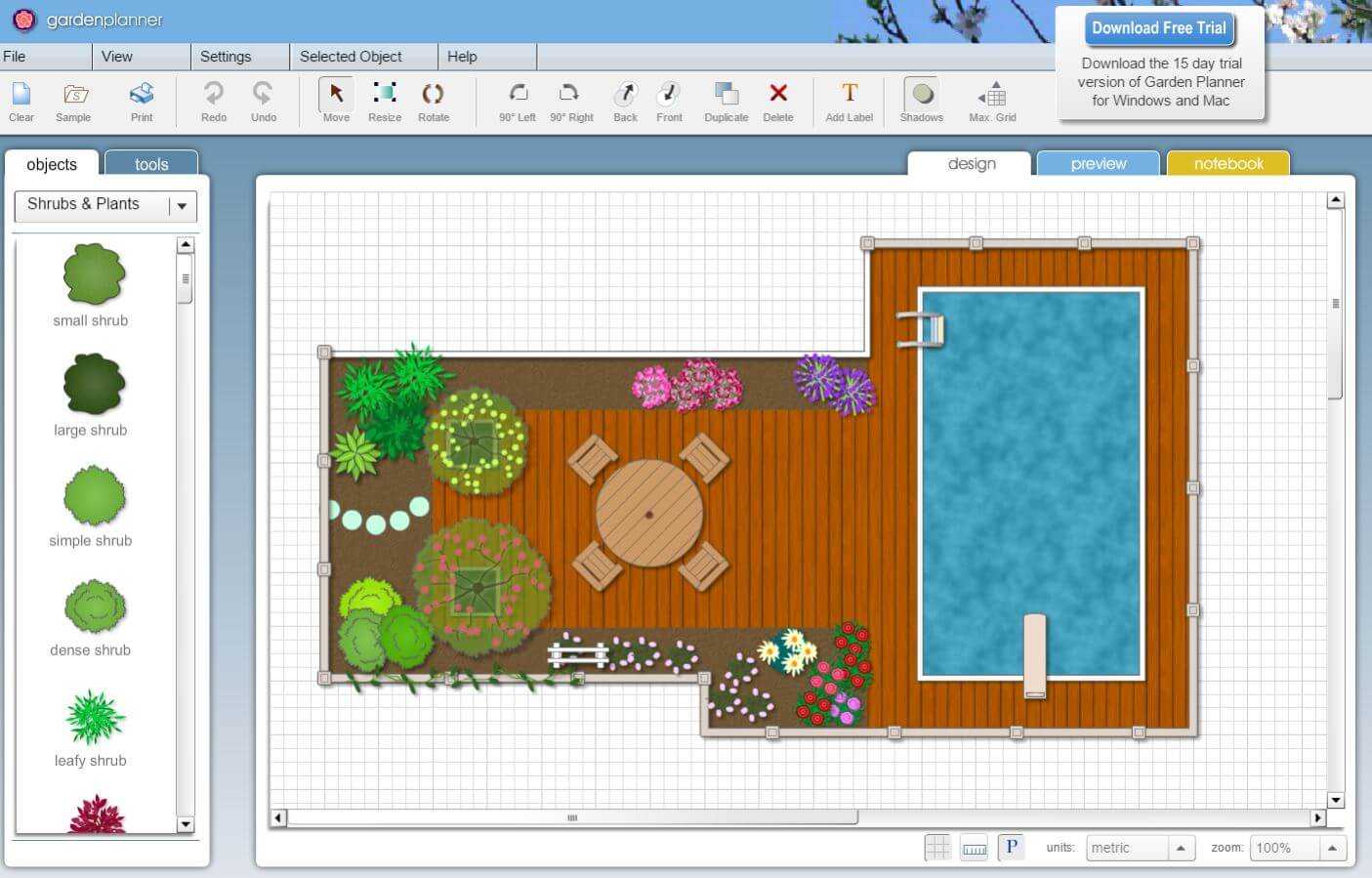 A Clean And Simple Design, This Garden Software Program Comes With Multiple  Pre Planned Options Or The Classic DIY. A Large Variety Of Flowers And  Shrubs ...