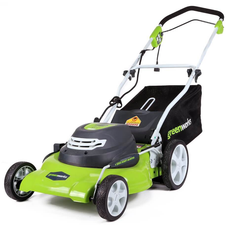 greenworks 20 inch corded mower