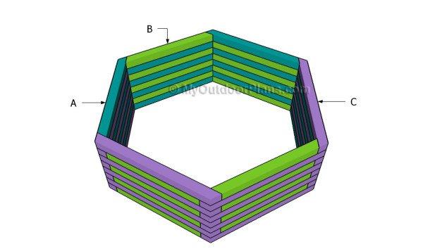 Hexagon Planter Plan