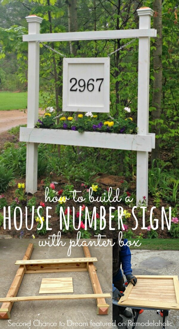 House Number Sign Planter Box Plan