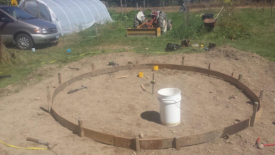 A foundation for a DIY sauna