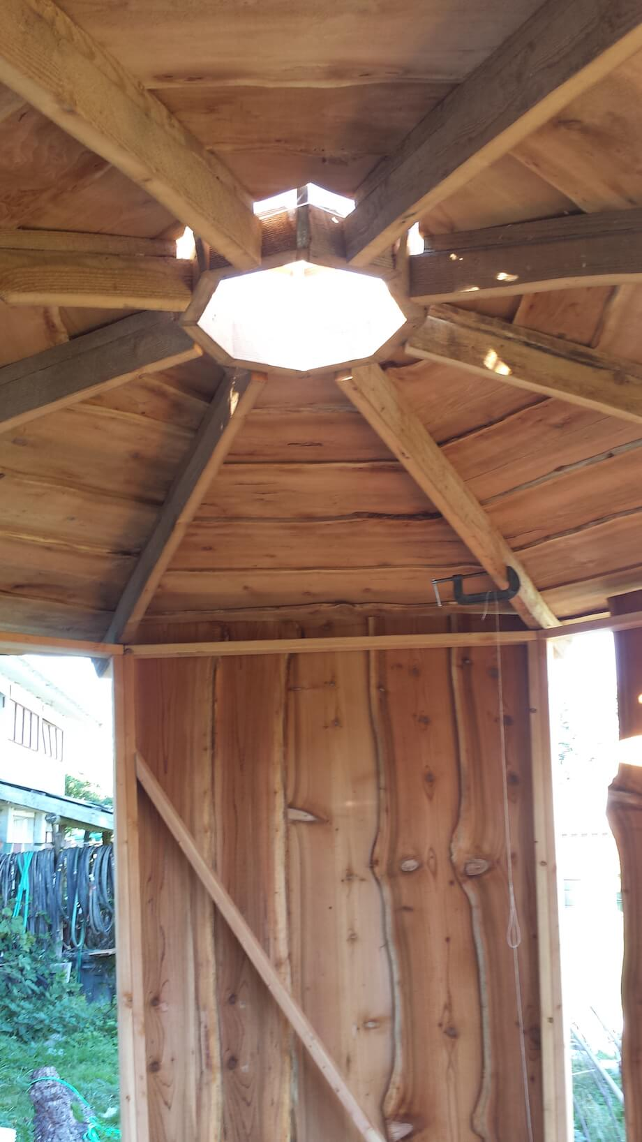 DIY Sauna With Keyhole Roof