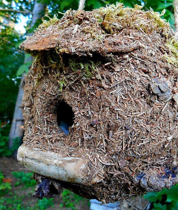 bird house made of natural materials