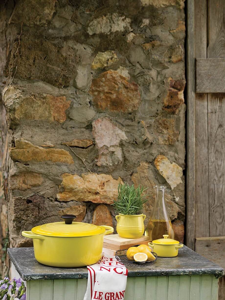 le creuset dutch oven in some fancy place