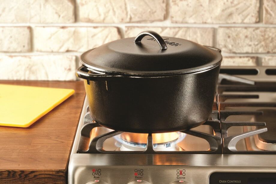 Lodge non-enameled cast-iron Dutch oven