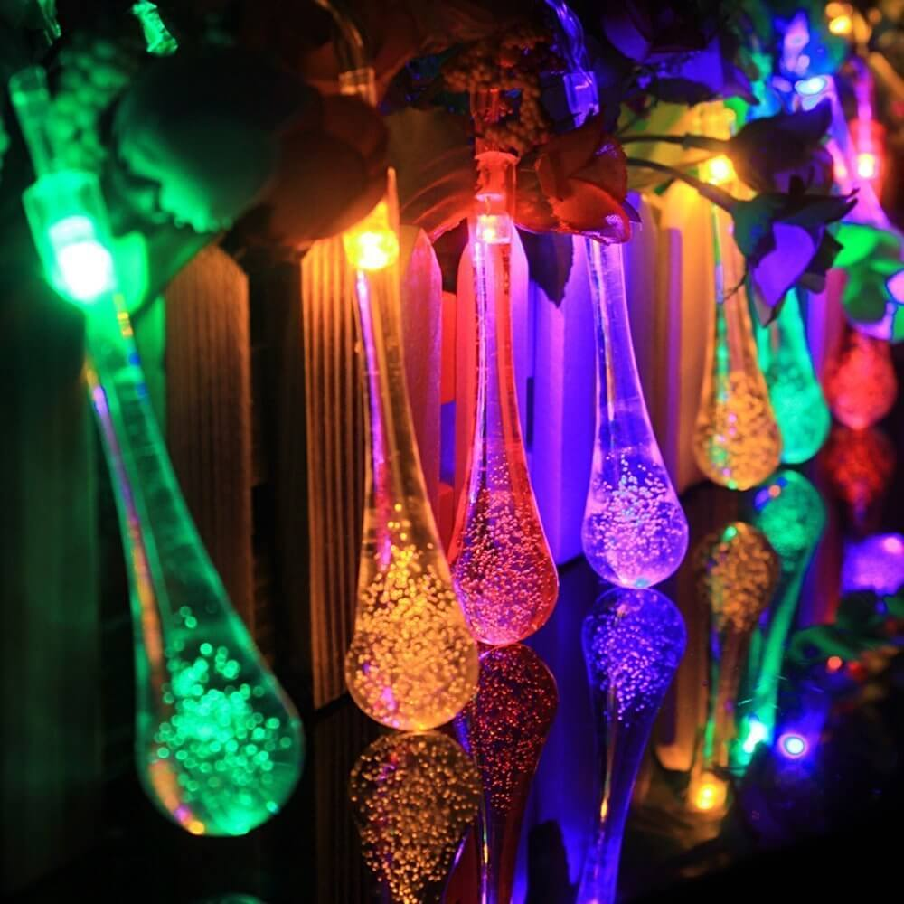 Outdoor Garden Fairy Lights Outdoor string lights insteading multi colored solar outdoor string lights workwithnaturefo