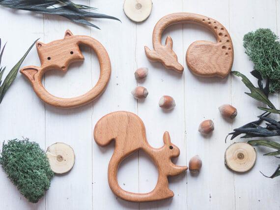 Organic Wooden Teether