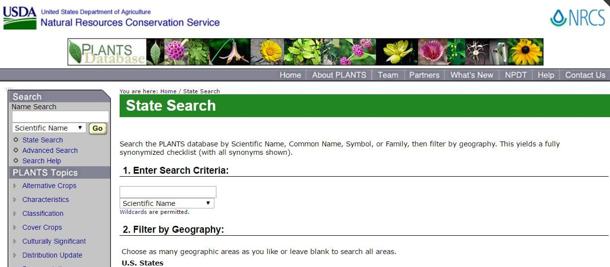 Plant Selector Tool
