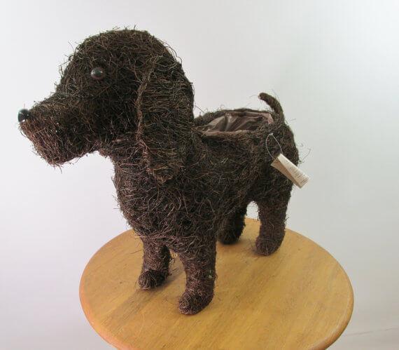 Rattan Puppy Planter