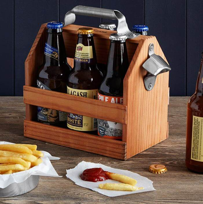 Reclaimed Wooden Beer Caddy