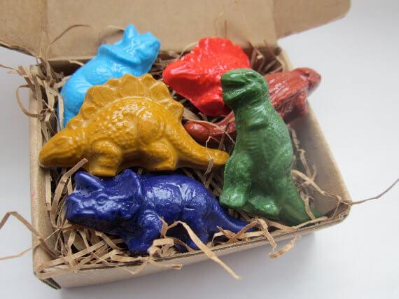 Soy Dinosaur Crayons