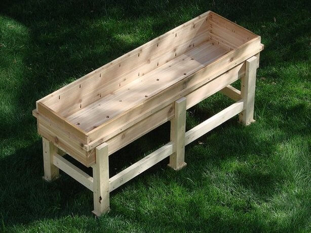 Planter box plans insteading for Vegetable garden table plans