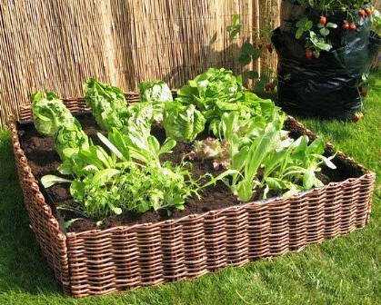 Woven Willow Raised Bed Kit